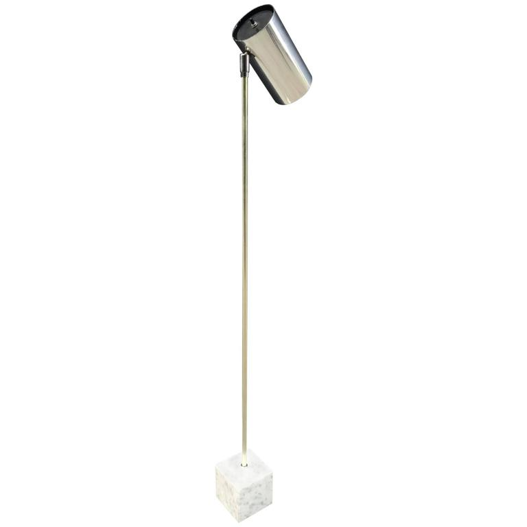 Robert sonneman for kovacs chrome and marble base floor lamp for robert sonneman for kovacs chrome and marble base floor lamp for sale aloadofball