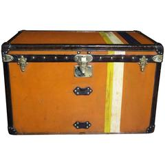 1910s Orange Louis Vuitton Steamer Trunk