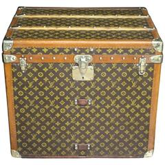 1930s Louis Vuitton Monogramm Hat Box Steamer Trunk