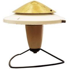 White Mid-Century Table or Wall Lamp