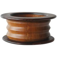 Ettore Sottsass Wood Bowl for Malay