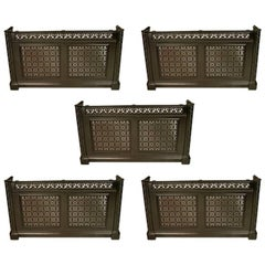Four Cast Iron Consoles/Radiator Covers from The Royal Liverpool School of Music