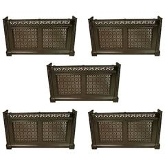 Five Cast Iron Consoles/Radiator Covers from The Royal Liverpool School of Music