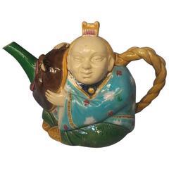 Minton Majolica Oriental Teapot, circa 1870