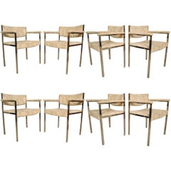Rare Set of Eight Harvey Probber Dining Chairs