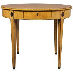Biedermeier Karelian Birch Center Table