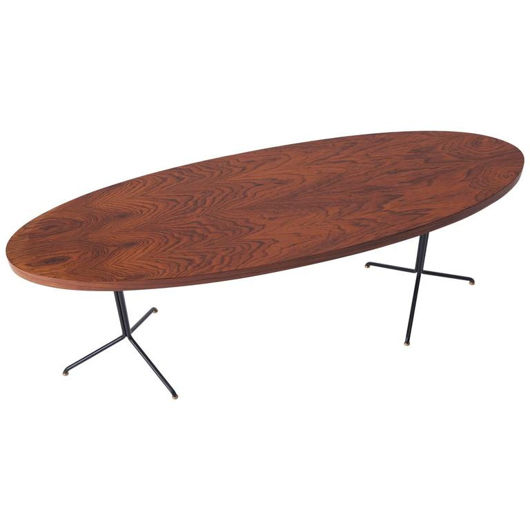 Rosewood Coffee Table 39 Surf Board 39 Shape Circa 1950 At 1stdibs
