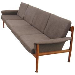 Rare Four-Seat Teak Sofa by Grete Jalk for France & Sons