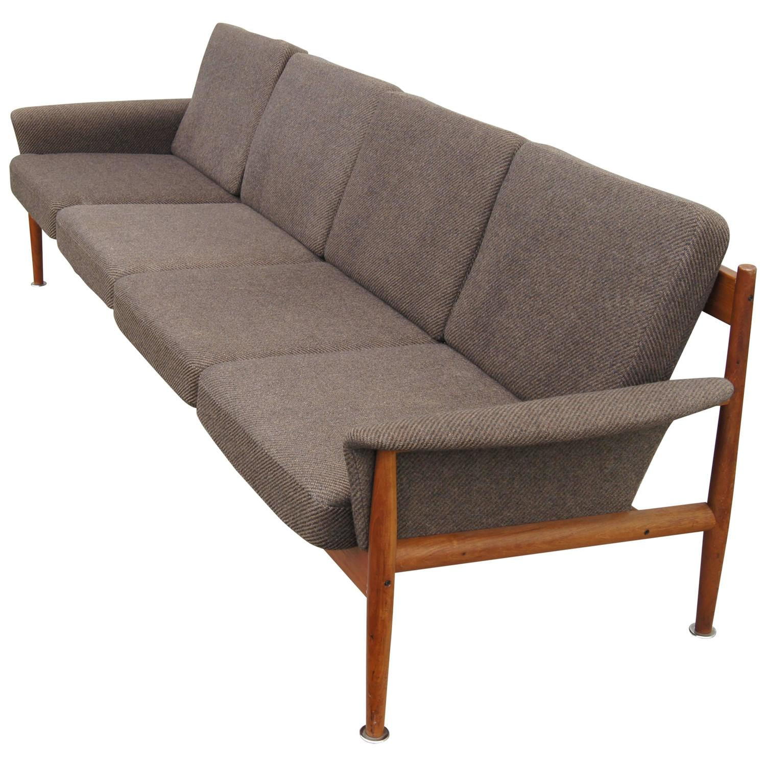 Danish Modern Teak Sofa by Grete Jalk at 1stdibs
