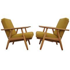 Pair of GE240 Cigar Chairs by Hans Wegner for GETAMA
