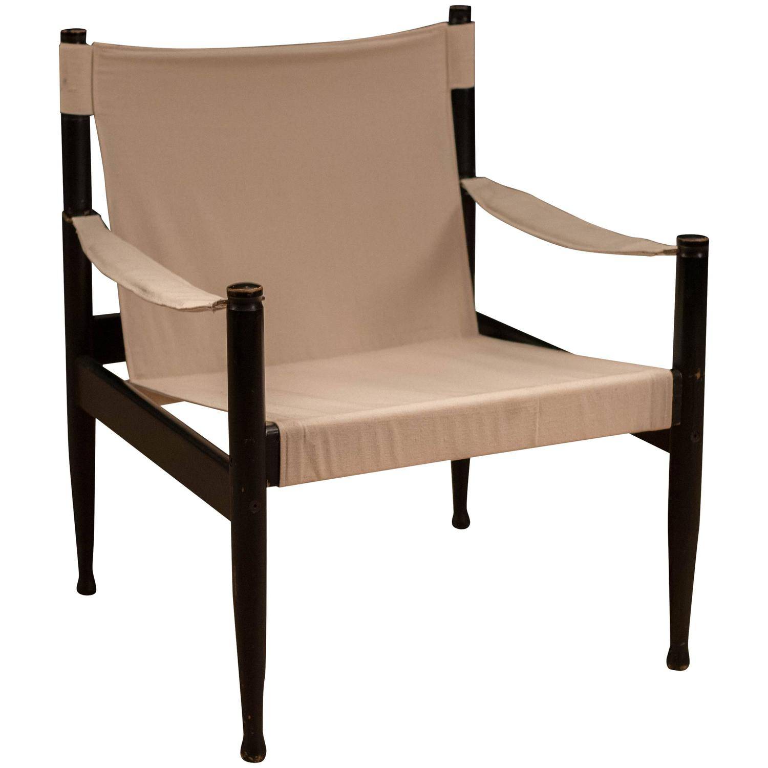 Mid Century Erik Worts Safari Chair For Sale at 1stdibs