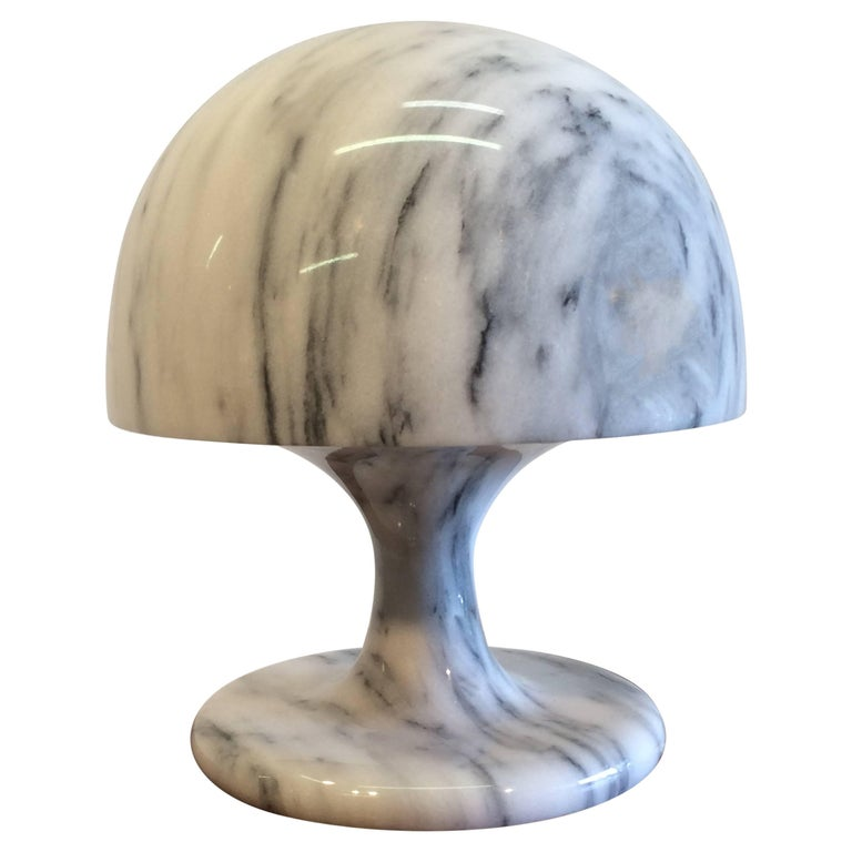 Nice Marble Table Lamp, Italy, 1970s For Sale