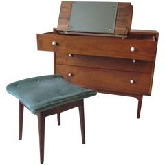 Kip Stewart and Stewart MacDougall Hidden Vanity Chest with Stool for Drexel