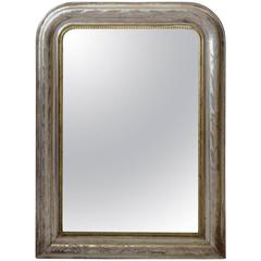 19th Century Louis-Philippe Silvered Wood Mirror