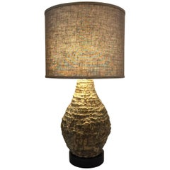 Oversized Studio Textured Pottery Table Lamp