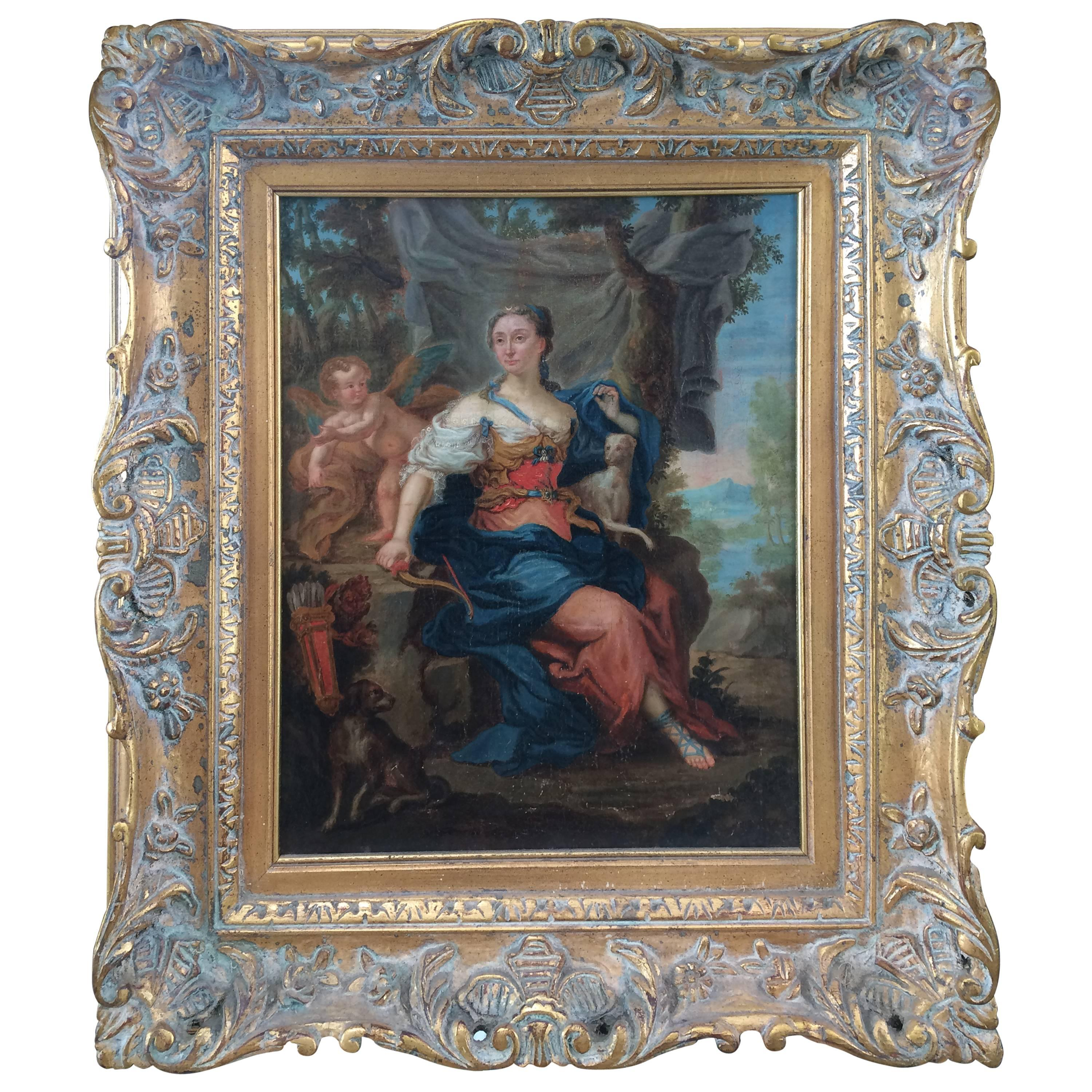 Oil on Canvas of Diana, Goddess of the Hunt