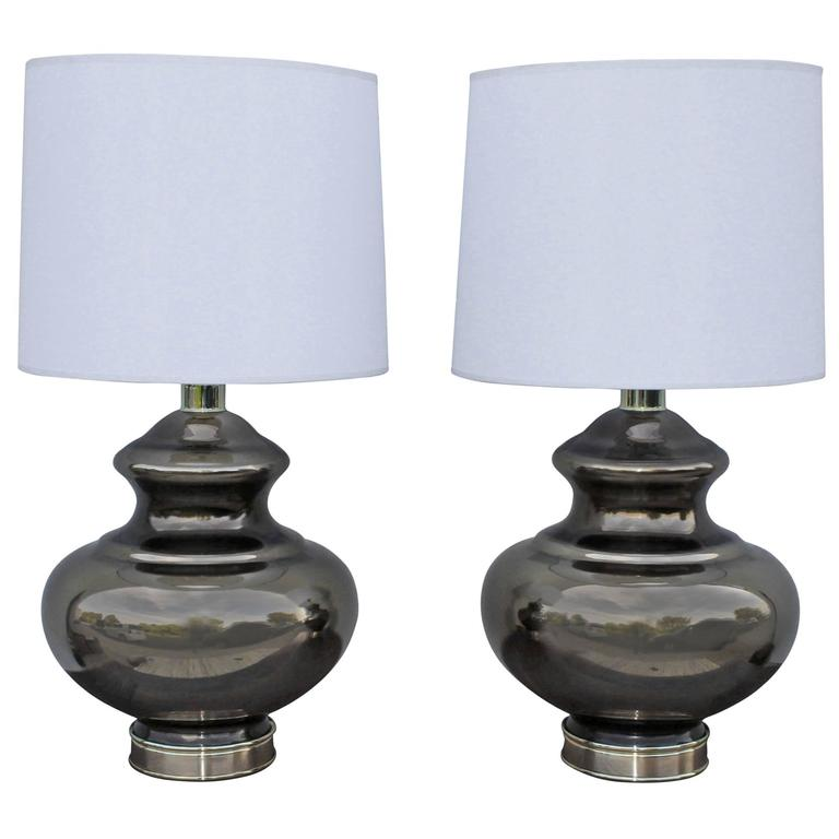 1960s Mercury Glass Table Lamps For Sale At 1stdibs
