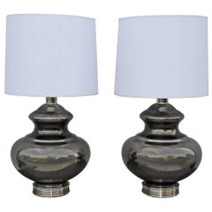 1960s Mercury Glass Table Lamps