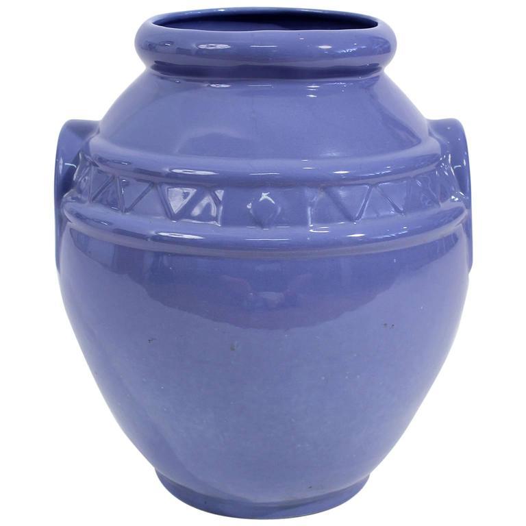 Arts & Crafts Large Alamo Pottery Garden Oil Jar Urn Jardiniere For Sale