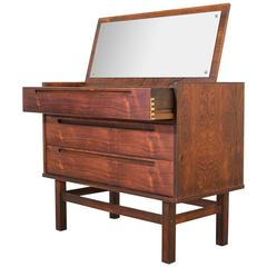 Danish Rosewood Vanity Dresser by Nils Jonsson for HJN Mobler