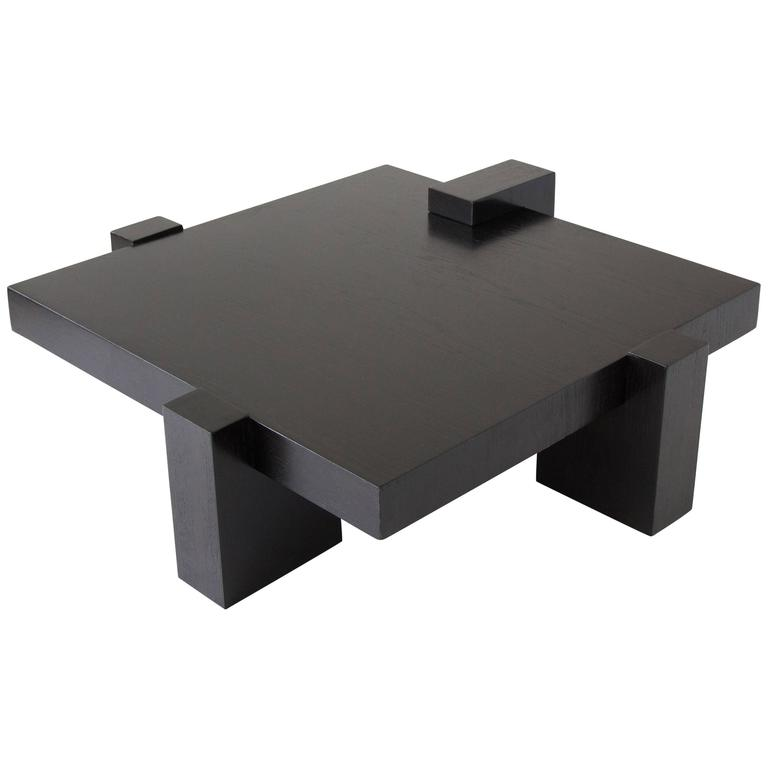 Kroehler Wood Block Coffee Table At 1stdibs