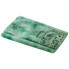 Green Jadeite Chinese Inkstone