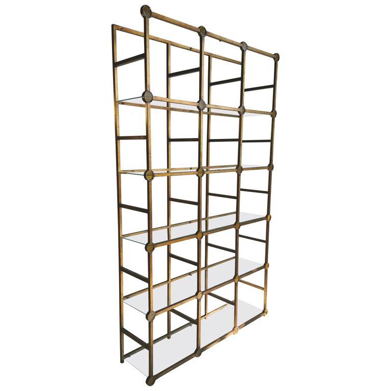 modernist architectural gilded iron and glass rondelles. Black Bedroom Furniture Sets. Home Design Ideas