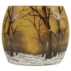 "Daum Nancy Cameo ""Winter"" Vase"