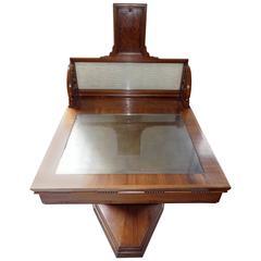 Scottish Art Deco desk by John Taylor & Sons Edinburgh; stylish unusual c1930s
