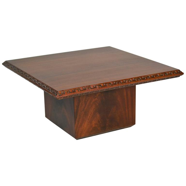 End Table Frank Lloyd Wright Heritage Henredon Mahogany, 1955