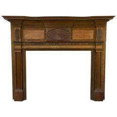 Early 1800s Federal Mantel with Sunburst Motif