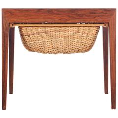 Rosewood Sewing Table by Severin Hansen
