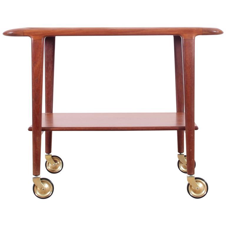 Teak Trolley Coffee Table Designed By Niels O Møller For