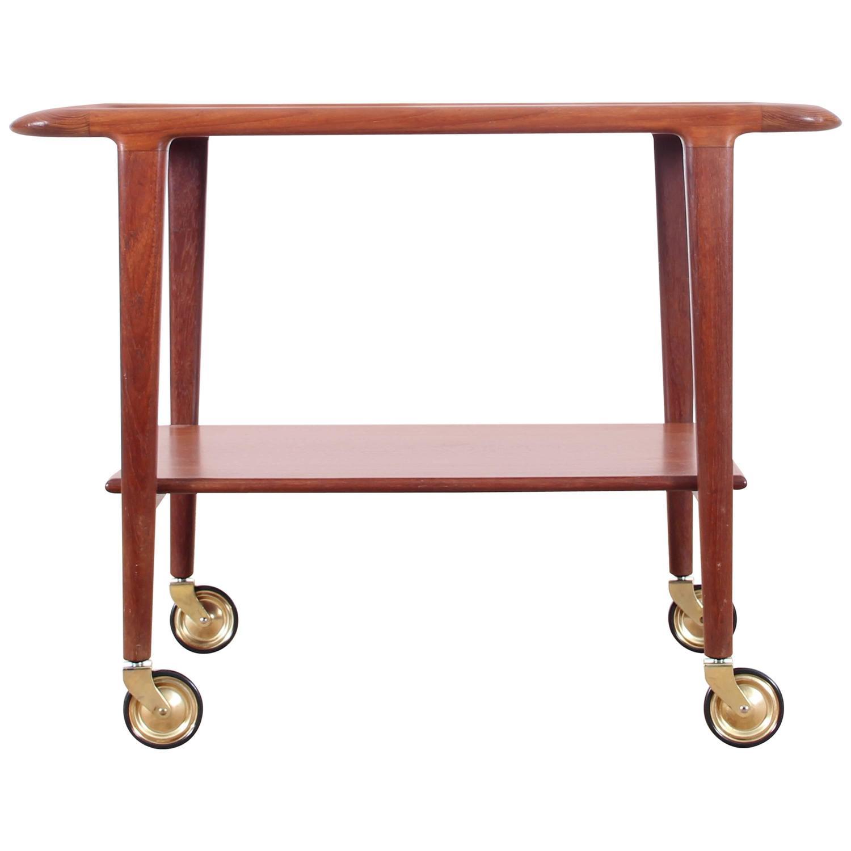 Teak Trolley Coffee Table Designed By Niels O M Ller At 1stdibs