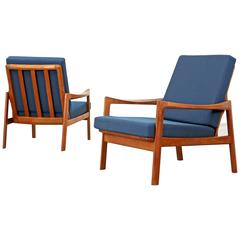 Set of Two Easy Chairs Designed by Tove and Edvard Kind-Larsen