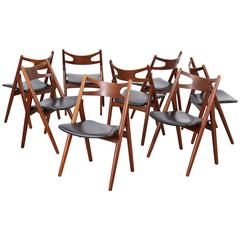 Sixteen Sawbuck Chairs CH-29 by Hans J. Wegner for Carl Hansen
