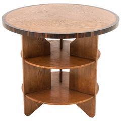 Funky Art Deco Haagse School Coffee Table by Pel Izeren for Genneper Molen