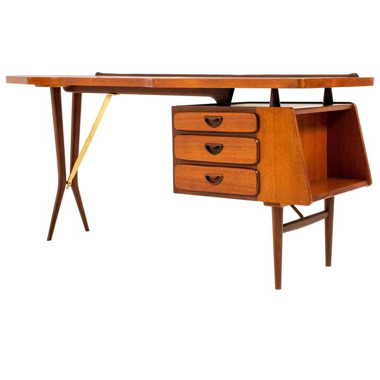 Iconic mid century modern desk by louis van teeffelen for for Iconic mid century modern furniture