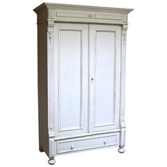 Late 19th Century Painted Wardrobe