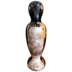 Folk Art Carved and Decorated Whimsical Penguin