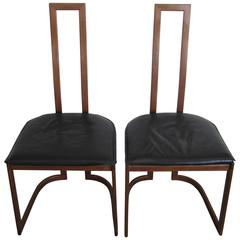 Pair of Modern Italian Side Chairs