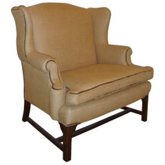 Mid-Century Settee Marquis Chair in New Fabric