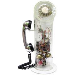 Lucite Tube Telephone