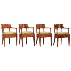 Set of Four Biedermeier or Karl Johan Chairs, Sweden, circa 1820