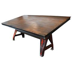 Massive Industrial Drafting/ Conference Table
