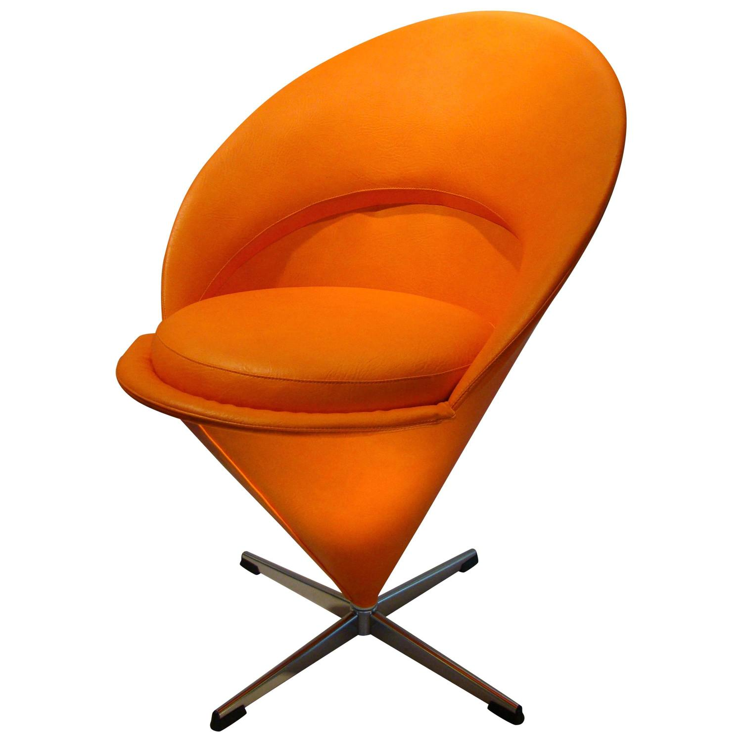 verner panton cone chair for sale at 1stdibs. Black Bedroom Furniture Sets. Home Design Ideas