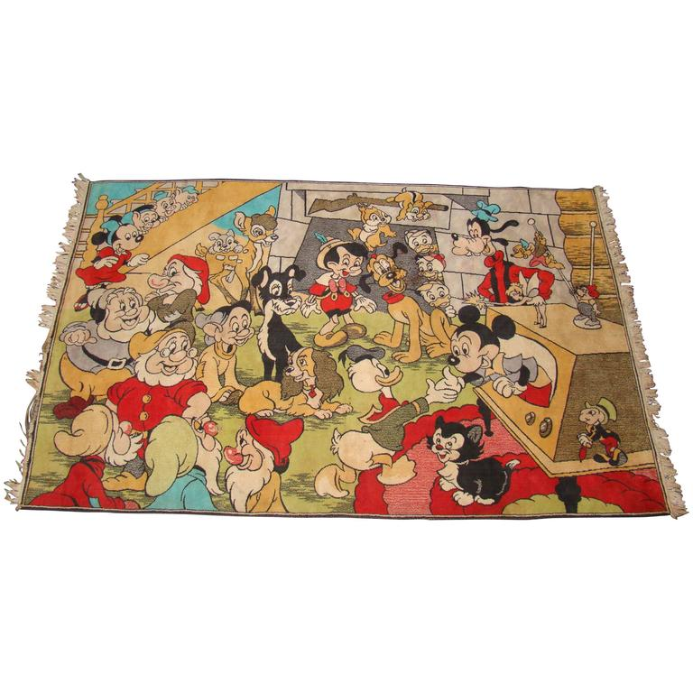 Spectacular And Whimsical Walt Disney Vintage Area Rug