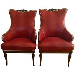 Pair of Classic Grosfeld House Chairs in Shagreen