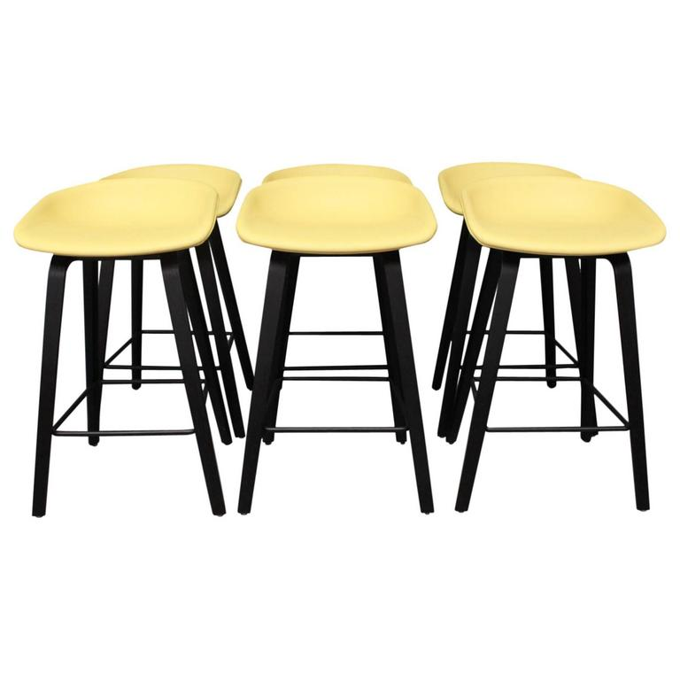 Set Of Six Barstools By Fritz Hansen 1970s At 1stdibs