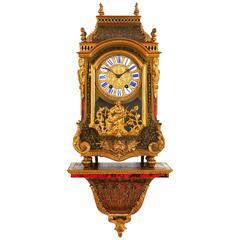 Louis XVI Style Ormolu-Mounted Boulle Bracket Clock